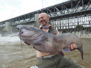 Guest of Blackwater cats red river catfishing guide with massive catfish