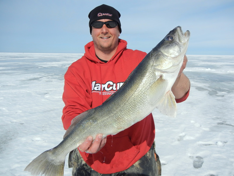 Trophy ice fishing catch